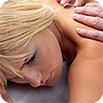 Photo of patient receiving massage therapy